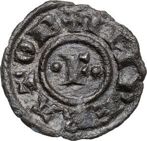 obverse: Brindisi o Messina.  Federico II (1197-1250). Quarto di Denaro, 1221