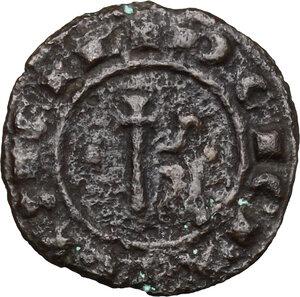 obverse: Brindisi.  Carlo I d Angiò (1266-1285). Doppio denaro
