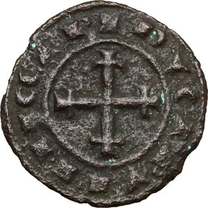 reverse: Brindisi.  Carlo I d Angiò (1266-1285). Doppio denaro