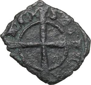 reverse: Brindisi o Messina.  Carlo I d Angiò (1266 -1282).. Denaro con quattro gigli
