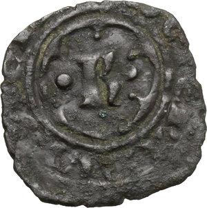 obverse: Brindisi.  Carlo I d Angiò (1266-1282). Denaro con K in ornato, 1277