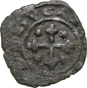 reverse: Brindisi.  Carlo I d Angiò (1266-1282). Denaro con K in ornato, 1277