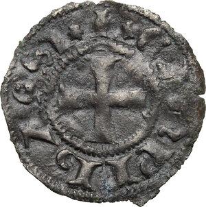 obverse: Campobasso.  Nicola II di Monforte Conte (1461-1463). Denaro tornese