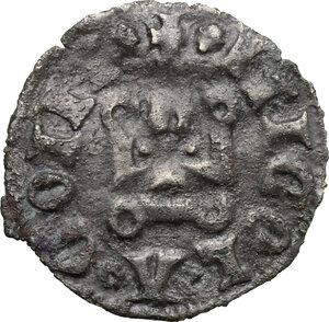 reverse: Campobasso.  Nicola II di Monforte Conte (1461-1463). Denaro tornese