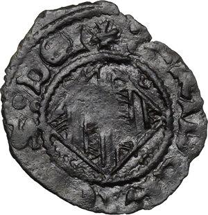 obverse: Catania.  Federico IV il Semplice (1355-1377).. Denaro