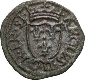 obverse: Chieti.  Carlo VIII re di Francia (1494-1495).. Cavallo