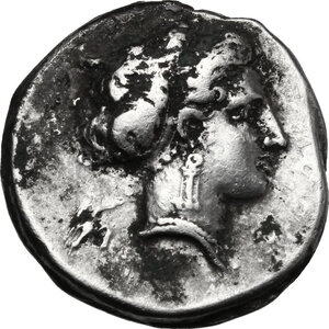 obverse: Central and Southern Campania, Neapolis. AR Fourrée (?) Didrachm, c. 300-275 BC