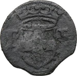 obverse: Emanuele Filiberto Duca (1559-1580).. Mezzo quarto di Soldo, I tipo, zecca di Aosta