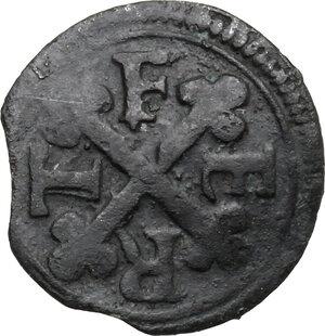 reverse: Emanuele Filiberto Duca (1559-1580).. Mezzo quarto di Soldo, I tipo, zecca di Aosta