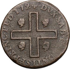 reverse: Vittorio Amedeo II (1718-1730). Tre cagliaresi 1724, zecca di Torino