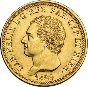 obverse: Carlo Felice (1821-1831). 80 lire 1829 Genova