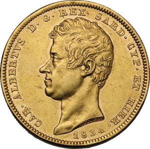 obverse: Carlo Alberto (1831-1849).. 100 Lire 1834 Torino