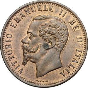 obverse: Vittorio Emanuele II, Re d Italia (1861-1878).. 10 centesimi 1862 Milano