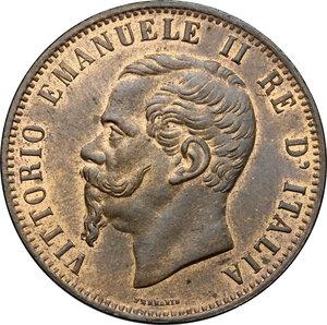 obverse: Vittorio Emanuele II, Re d Italia (1861-1878).. 10 centesimi 1866 Birmingham