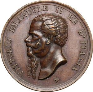 obverse: Vittorio Emanuele II (1849-1861).. Medaglia 1825 Giugno 1882, per l inaugurazione del monumento a Vittorio Emanuele II ad Ascoli Piceno