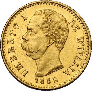 obverse: Umberto I (1878-1900).. 20 Lire 1882