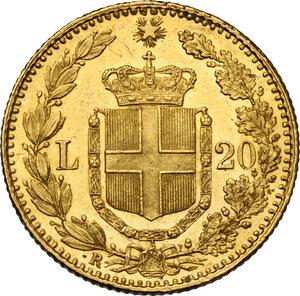 reverse: Umberto I (1878-1900).. 20 Lire 1882