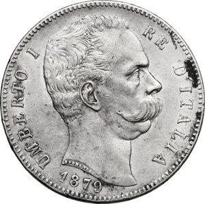 obverse: Umberto I (1878-1900). 5 lire 1879