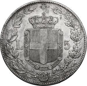 reverse: Umberto I (1878-1900). 5 lire 1879