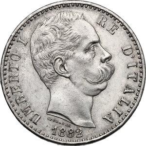 obverse: Umberto I (1878-1900).. 2 lire 1882 Roma