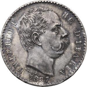 obverse: Umberto I (1878-1900). 2 lire 1887