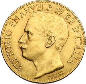 obverse: Vittorio Emanuele III (1900-1943). 50 lire 1911