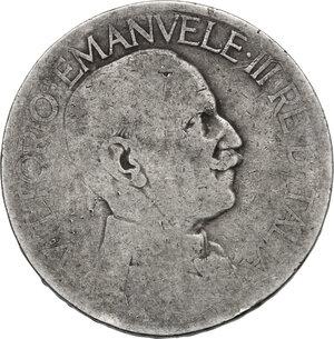 obverse: Vittorio Emanuele III (1900-1943). 2 lire 192(?), annullato dalla zecca