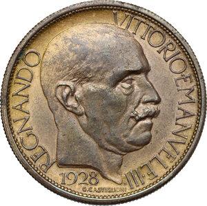 obverse: Vittorio Emanuele III (1900-1943). Buono da 2 Lire 1928