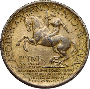 reverse: Vittorio Emanuele III (1900-1943). Buono da 2 Lire 1928