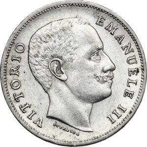 obverse: Vittorio Emanuele III (1900-1943). Lira 1907