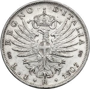 reverse: Vittorio Emanuele III (1900-1943). Lira 1907