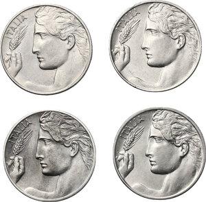 obverse: Vittorio Emanuele III (1900-1943). Lotto di 4 monete da 20 centesimi 1909, 1912, 1920 e 1922