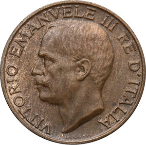 obverse: Vittorio Emanuele III (1900-1943). 10 centesimi 1919