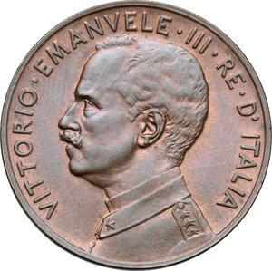 obverse: Vittorio Emanuele III (1900-1943). 5 centesimi 1915