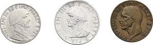 obverse: Vittorio Emanuele III (1900-1943). 0.50, 0.20 e 0.10 Lek 1941