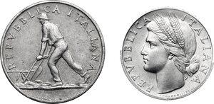 obverse: 2 Lire e Lira 1948