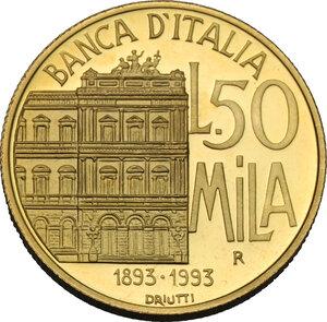 reverse: 50 000 lire 1994, Centenario della Banca d Italia