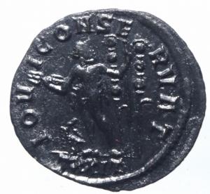 reverse: Impero Romano. Diocleziano. 284-305 d.C. Antoniniano. Ae. D/ IMP C C VAL DIOCLETIANVS P F AVG Busto radiato e corazzato a destra. R/ IOVI CONSERVAT Giove stante a sinistra con fulmine e scettro, davanti un aquila e dietro di lui 2 insegne . In esergo TXXIT. Zecca Ticinum.C.203 - RIC.228 - HCC.50. Peso gr. 2,65. Diametro 21,00 mm. . SPL\qSPL.R
