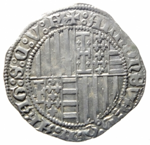 reverse: Zecche Italiane. Napoli. Alfonso I d Aragona. 1442-1458. Carlino. AG. P-R 3e. Peso 3,60 gr. Diametro 27,00 mm. SPL. ex Tintinna 56, lotto 8001, aggiudicata ma non pagata.