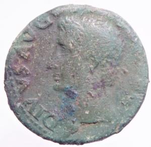 obverse: Impero Romano. Augusto. 27 a.C. - 14 d.C. Asse, emesso da Tiberio. AE. D/ Testa radiata di Augusto a sinistra. R/ SC. Fulmine alato. RIC (Tib.) 83. Peso 11,83 gr. Diametro 29,00 mm. BB. Patina