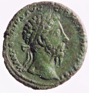obverse: Impero Romano. Marco Aurelio (161-180).Asse. D/ Busto radiato a destra. R/ FELICITATI AVG PP IMP VIII COS III PP SC. Nave a destra. RIC 1199. Peso 9,55 gr.Diametro 25,00 mm.AE. BB+.