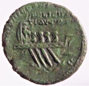reverse: Impero Romano. Marco Aurelio (161-180).Asse. D/ Busto radiato a destra. R/ FELICITATI AVG PP IMP VIII COS III PP SC. Nave a destra. RIC 1199. Peso 9,55 gr.Diametro 25,00 mm.AE. BB+.