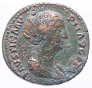 obverse: Impero Romano .Faustina Figlia, moglie di Marco Aurelio, figlia di Antonino Pio e Faustina (deceduta nel 176 d.C.). Asse. AE. D/ FAVSTINA AVGVSTA Busto a destra. R/ CONCORDIA, la Concordia seduta a sinistra con patera Peso 10,85gr. Diametro mm 26,80. BB++.