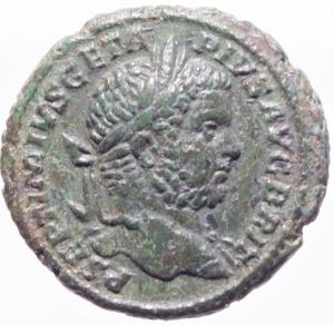 obverse: Impero Romano.Geta (209-212). Asse. Roma, 211 d.C. AE D\P SEPTIMIVS GETA - PIV[S] AVG BRI[T], testa laureata a destra, R\ [F]ORT RED [T]R P III [COS II P P], Fortuna seduta verso s., tiene timone e cornucopia; sotto il trono, una ruota; in ex. S C. RIC 176; C 60.Peso 11,36 gr.Diametro 25,00 mm. SPL. Ex N e N asta 61 lotto 719