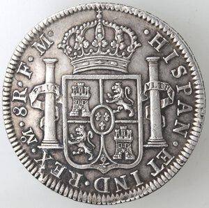 reverse: Messico. Carlo IV. 1788-1808. 8 Reales 1795 FM. Ag.