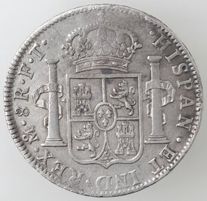 reverse: Messico. Carlo IV. 1788-1808. 8 reales 1803 FT. Ag.