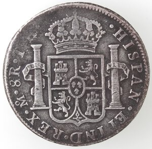 reverse: Messico. Carlo IV. 1788-1808. 8 reales 1808 TH. Ag.