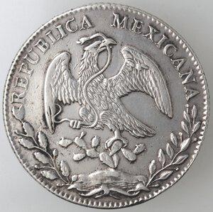 obverse: Messico. Prima Repubblica. 8 Reales 1878. Ag.