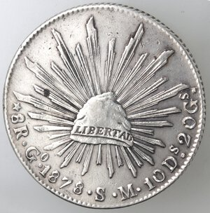 reverse: Messico. Prima Repubblica. 8 Reales 1878. Ag.