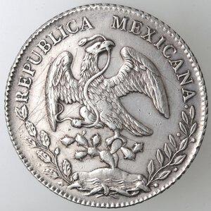 obverse: Messico. Prima Repubblica. 8 Reales 1881. Ag.